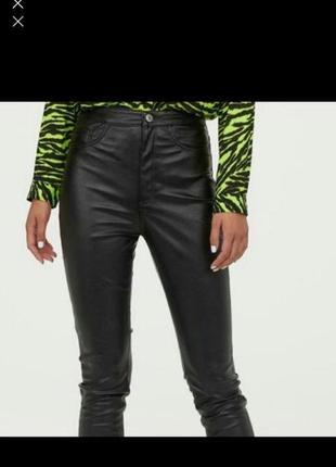 Круті штани з еко шкіри h&m
