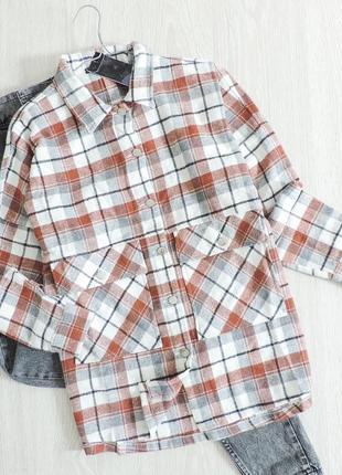 Фланелевая рубашка в клетку