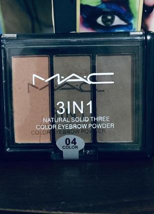 Оригинальные тени для mac 3in1
