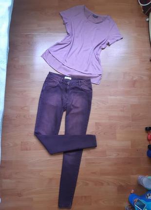 Комплект : джинсы и блуза