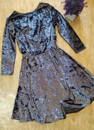 Шикарное велюровое платье topshop размер s