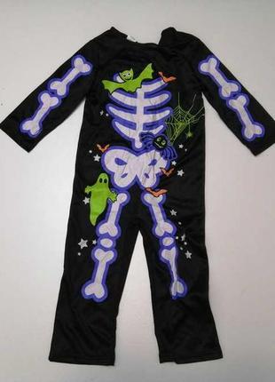 Карнавальный костюм, детский, скелет, hallow scream, в хорошем сост.