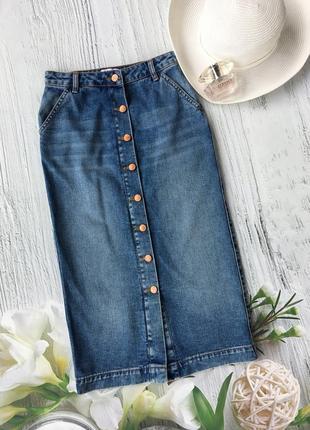 Denim джинсовая юбочка с пуговицами