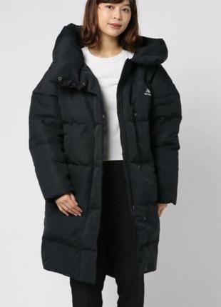 Теплющее зимнее пуховое пальто new balance athletics awj93551bk-оригинал