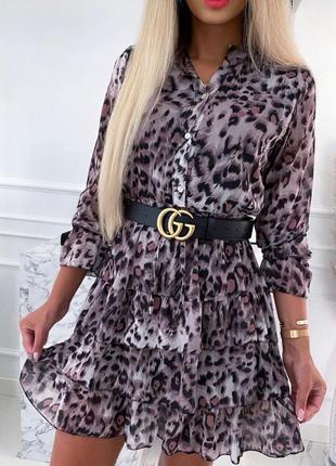 Нарядное шифоновое крутое платье турция