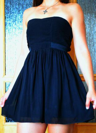 Платье коктейльное шифоновое stradivarius