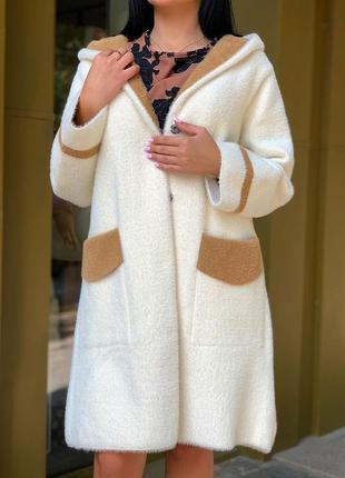 Шикарное пальто из альпаки с шерстью мериноса турция