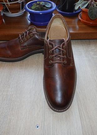 Туфли , броги , оксфорды , дерби clarks leather oxfords brogue derby