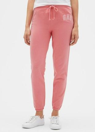 Gap новые спортивные штаны теплые гэп розовые коралловые  размер s