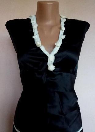 Элегантная шёлковая блуза  principles petite, новая.
