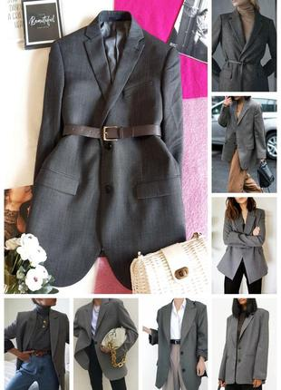 Шикарний якісний блейзер піджак 100% шерсть/удлиненный шерстяной жакет пиджак