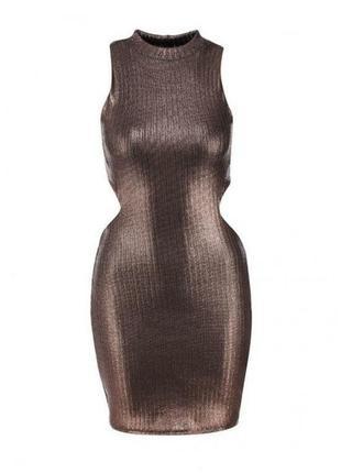 Красивейшее платье с напылением и открытыми боками от topshop s/m