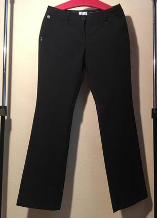 Чёрные женские прямые брюки штаны c&a clockhouse spesial edition