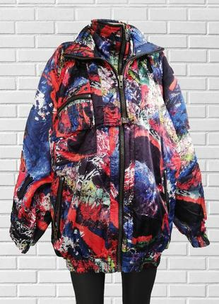 Яркая  стильная разноцветная куртка оверсайз / made in italy  , хит 2020