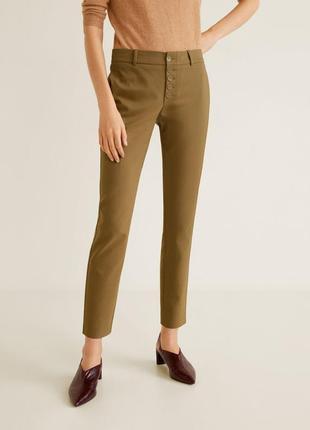 Женские укороченные классические брюки mango