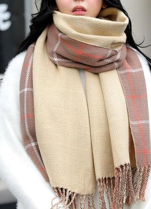 Стильний теплий шарф, накидка, палантин, платок 748