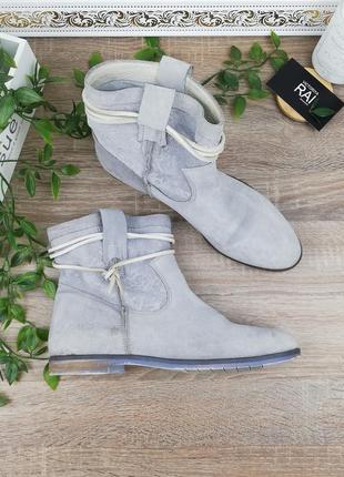 39🌿европа🇪🇺 shoot. замша. классные ботинки на низком ходу