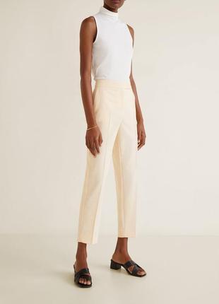 Женские укороченные меланжевые брюки mango