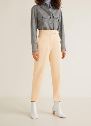 Женские прямые брюки штаны mango