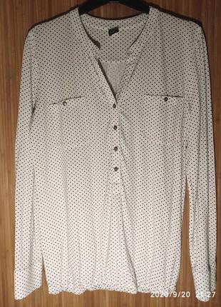 Трикотажная блузка из вискозы