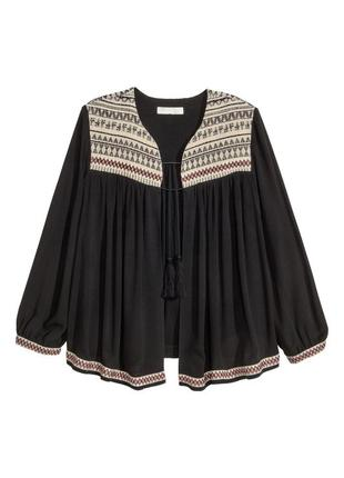 Блуза, накидка бохо стиль с завязками h&m / большая распродажа!
