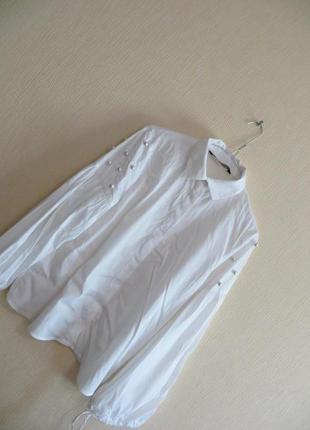 Рубашка с жемчужинами zara (р.s)