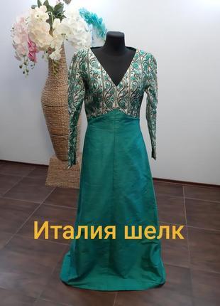 Платье италия шелк ручная работа