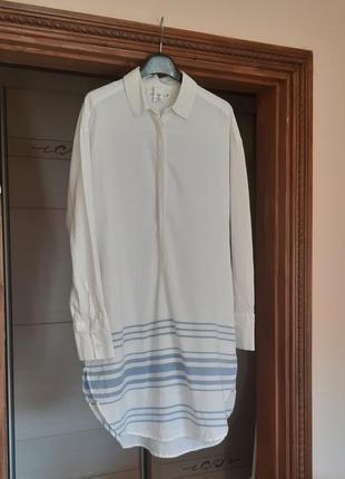 Хлопковая рубашка-туника оверсайз