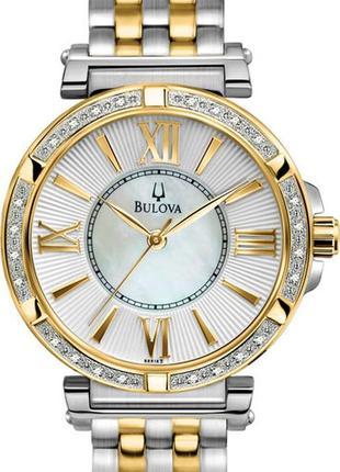 Бриллианты! женские часы с бриллиантами bulova.оригинал!
