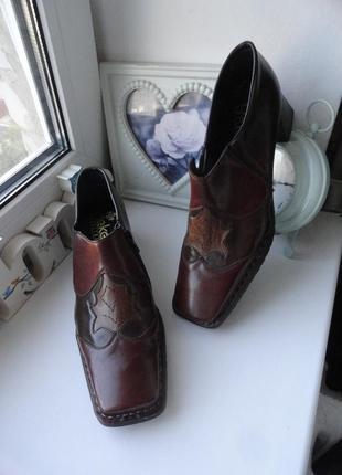 Суперские фактурные туфли