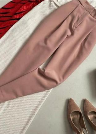 Идеальные пудровые брюки  на осень new look