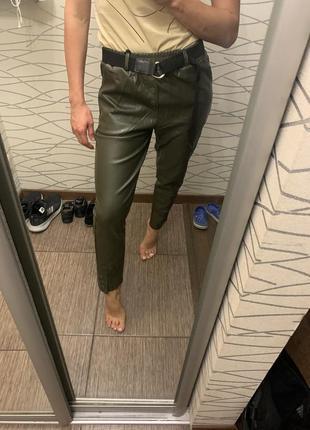 Крутые штаны из эко кожи