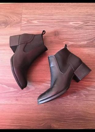 Сапоги ботинки челси блочный каблук