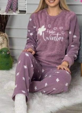 Пижамы женские теплые турция 42-56