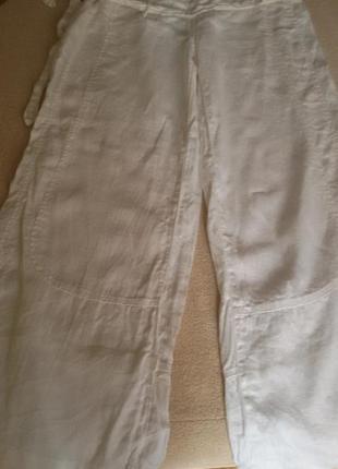 Штаны брюки белые лен