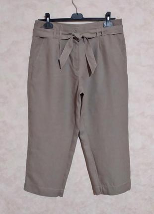 Стильные укороченные брюки с поясом, garry weber, xl