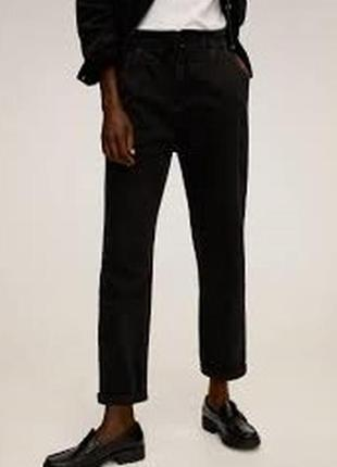 Укороченные джинсы на резинке багги l-xl