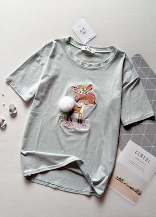 Неймовірна футболка з оленятком