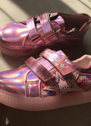 Суперские кеды туфли голографик