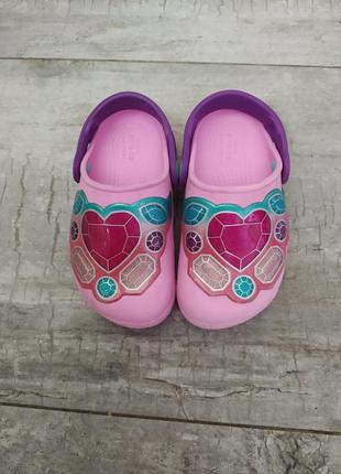 Светящиеся мигающие crocs c9 crocs на девочку розовые crocs c9