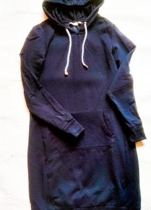 Платье спортивное худи толстовка тёплое флис фирменное blue motion