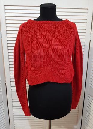 Укороченный кроп свитер zebra