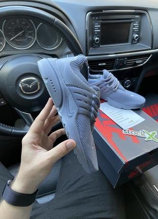 Nike air presto grey, женские серые кроссовки найк престо