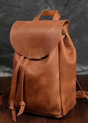Кожа. ручная работа. кожаный рюкзак. женский рюкзачок