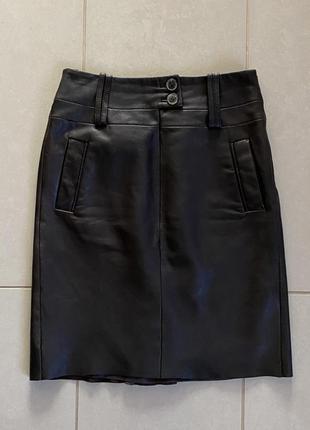 Юбка кожаная демисезонная премиум бренд arma размер s