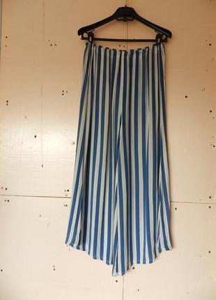 Укороченные кюлоты в полоску из нежнейшей натуральной ткани хлопок  юбка брюки
