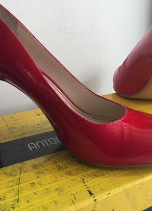 Красные лаковые туфли лодочки antonio biaggi