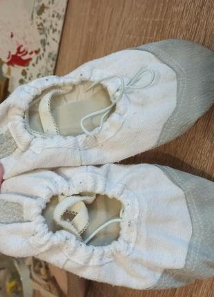 Чешки белые балетки получешки кожаные4 фото
