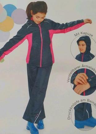 Куртка + штаны crivit 319041 122-128 см и 134-140 см  темно-синий дождевик 61419