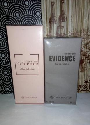 Набор comme une evidence (эвиденс) + evidence homme (эвиденс хом) ив роше